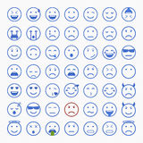 Ensemble d'émoticônes Ensemble d'Emoji Ensemble d'avatar Photographie stock
