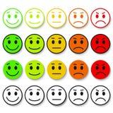 Ensemble d'émoticônes Grade d'Emoji, niveau, charge Photo libre de droits