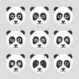 Ensemble d'émoticônes mignonnes de panda Photo libre de droits