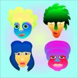 Ensemble d'émotion de visage Image libre de droits