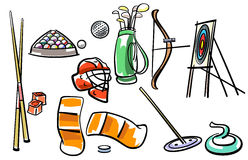Ensemble d'équipement de sport Images stock
