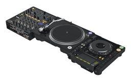 Ensemble d'équipement professionnel du DJ Image libre de droits