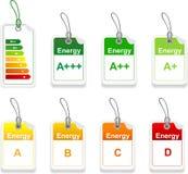 Ensemble d'étiquette de classe d'énergie illustration stock