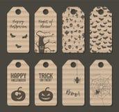 Ensemble d'étiquette de label de Halloween de carton illustration stock