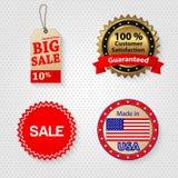 Ensemble d'étiquette de vente au détail Photographie stock