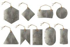 Ensemble d'étiquette en métal Photographie stock