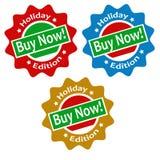Ensemble d'étiquettes Images stock