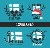 Ensemble d'étiquettes Image libre de droits