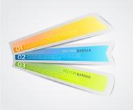 Ensemble d'étiquettes colorées. Photos stock
