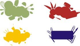 Ensemble d'étiquettes culinaires Photographie stock libre de droits