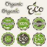 Ensemble d'étiquettes d'eco Photos libres de droits