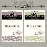 Ensemble d'étiquettes d'huile d'olive Photos libres de droits