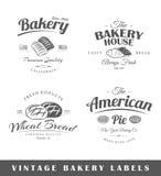 Ensemble d'étiquettes de boulangerie de cru Image stock