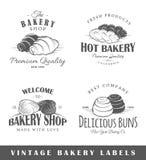 Ensemble d'étiquettes de boulangerie de cru Images stock