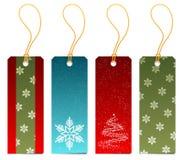 Ensemble d'étiquettes de cadeau de Noël Photographie stock libre de droits