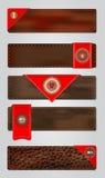 Ensemble d'étiquettes de la meilleure qualité en cuir de qualité. Image libre de droits