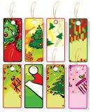 Ensemble d'étiquettes de Noël. illustration stock