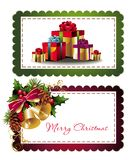 Ensemble d'étiquettes de Noël Photo stock