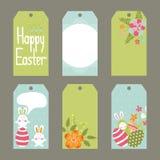 Ensemble d'étiquettes de Pâques Photo stock