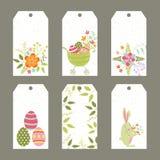 Ensemble d'étiquettes de Pâques Images stock