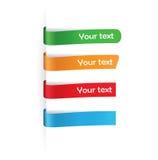 Ensemble d'étiquettes de papier pour tous éléments Photographie stock libre de droits