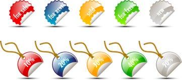 Ensemble d'étiquettes de vente Photo libre de droits