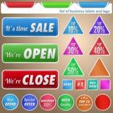 Ensemble d'étiquettes et d'étiquettes d'affaires Photographie stock libre de droits