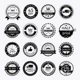 Ensemble d'étiquettes et de bandes à vendre illustration libre de droits