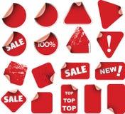 Ensemble d'étiquettes et de collants Photographie stock libre de droits