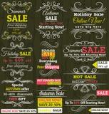 Ensemble d'étiquettes et de drapeaux d'offre de vente spéciale Photo stock