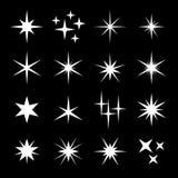 Ensemble d'étoile d'étincelles de lumière illustration stock
