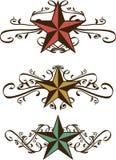 Ensemble d'étoiles occidentales fleuries illustration libre de droits
