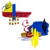 Ensemble d'abstraction d'aquarelle Collage des taches illustration de vecteur