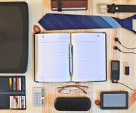 Ensemble d'accessoires d'affaires Photographie stock libre de droits