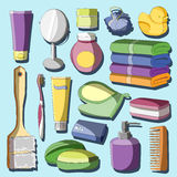 Ensemble d'accessoires de bain Photos libres de droits