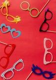 Ensemble d'accessoires de photo pour épouser et fêtes d'anniversaire Photo stock