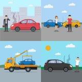 Ensemble d'accident de voiture Image stock