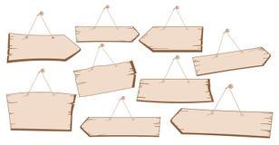Ensemble d'accrocher les plaques de rue en bois Photo libre de droits