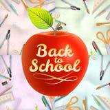 Ensemble d'accueil de nouveau à l'école ENV 10 illustration de vecteur