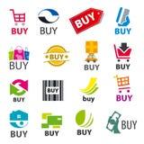 Ensemble d'achat de logos de vecteur illustration libre de droits