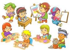 Ensemble d'activités d'enfant illustration libre de droits