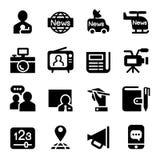 Ensemble d'actualités et d'icône de médias Photos libres de droits