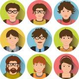 Ensemble d'affaires d'avatars Photo stock