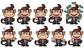 Ensemble d'affaires de singe illustration stock