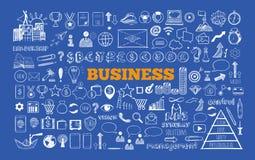 Ensemble d'affaires et d'icônes de finances illustration libre de droits