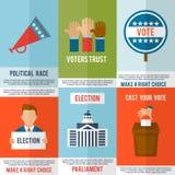 Ensemble d'affiche d'élection Photo libre de droits