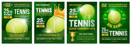 Ensemble d'affiche de tennis illustration de vecteur