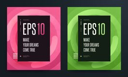 Ensemble d'affiches colorées abstraites avec la couleur propre lumineuse de fond Illustration d'ENV 10 Image libre de droits
