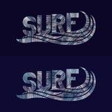 Ensemble d'affiches de typographie de ressac Concept dans le style de vintage Photos stock