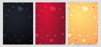 Ensemble d'affiches et de milieux de vente de jour de valentines Papier peint, insectes, invitation, affiches, brochure, bon, ban Images stock